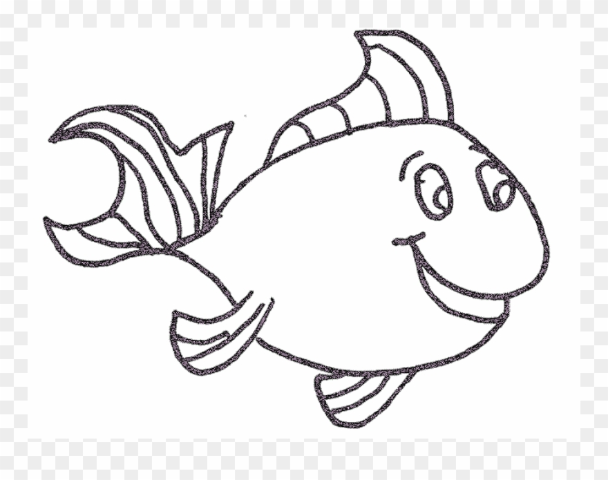Fish Outline Coloring Page Children Coloring Tropical ...