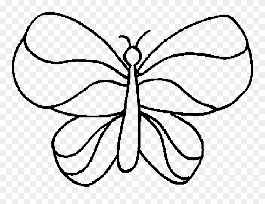 Simple Coloring Pages Coloring Page Simple Butterfly Colouring Pages Clipart 1230434 Pinclipart