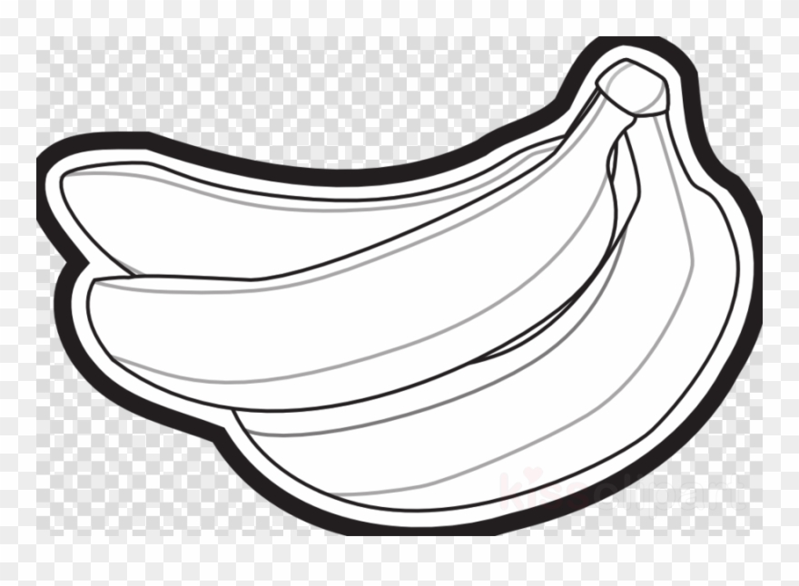 Banana black and white. Pictures of bananas clipart