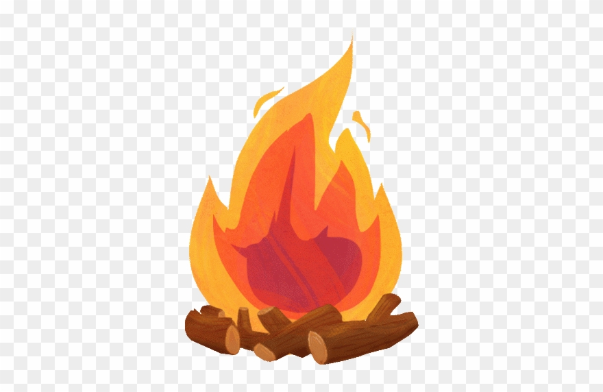 Camp Fire Gif Clipart Campfire Clip Art Campfire Gif Transparent Background Png Download 1233759 Pinclipart