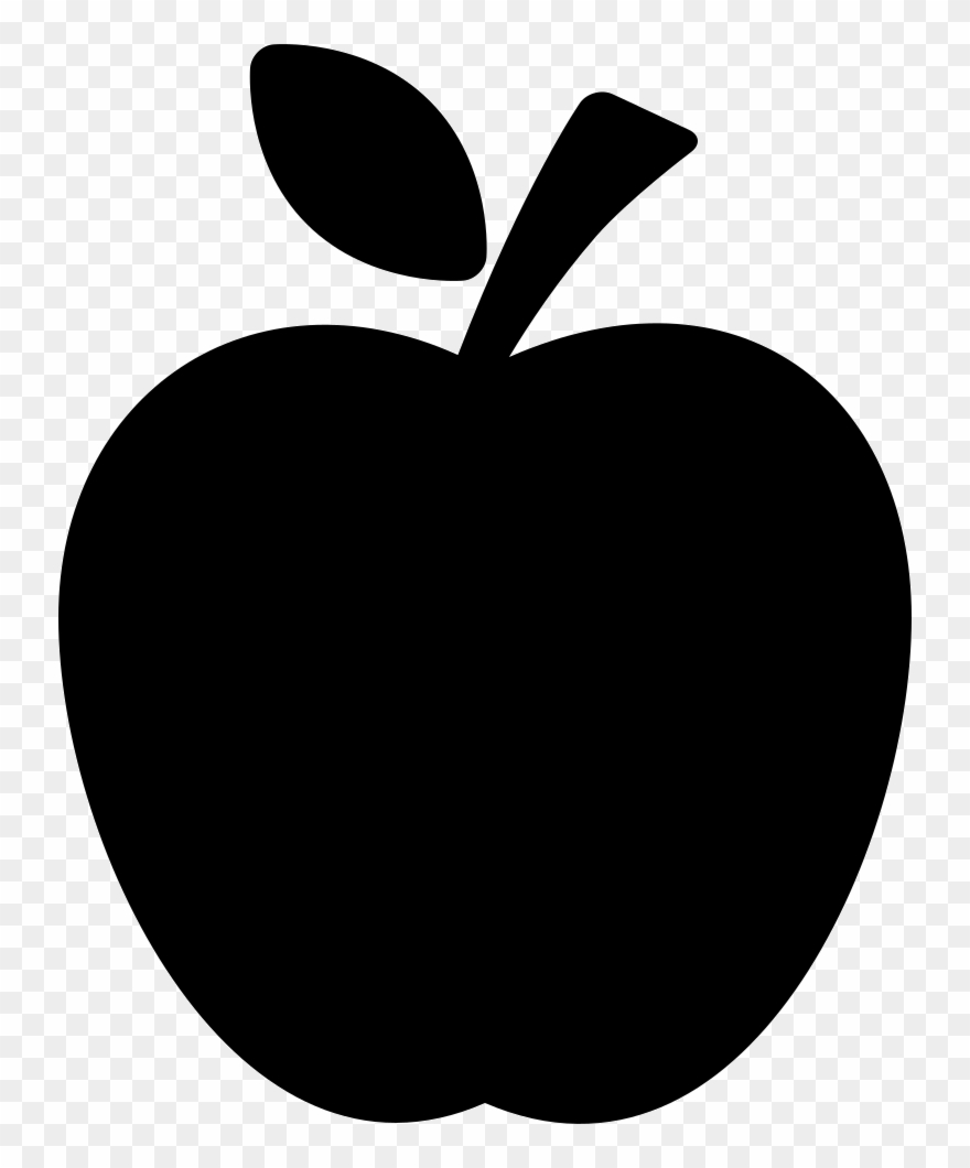 Apple silhouette. Png file black clipart