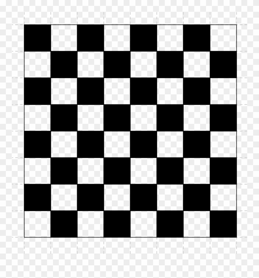 Picture Library Checkered Clipart Chess Board - Black And White Checker - Png Download