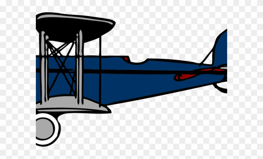 silhouette old fashioned airplane clipart