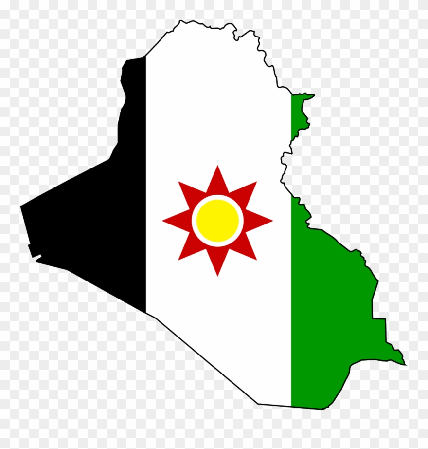 Iraq Clipart - - Iraq Flag And Map - Png Download (#1234902