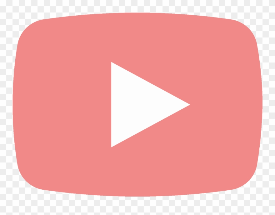 Youtube pink. Free play button psd