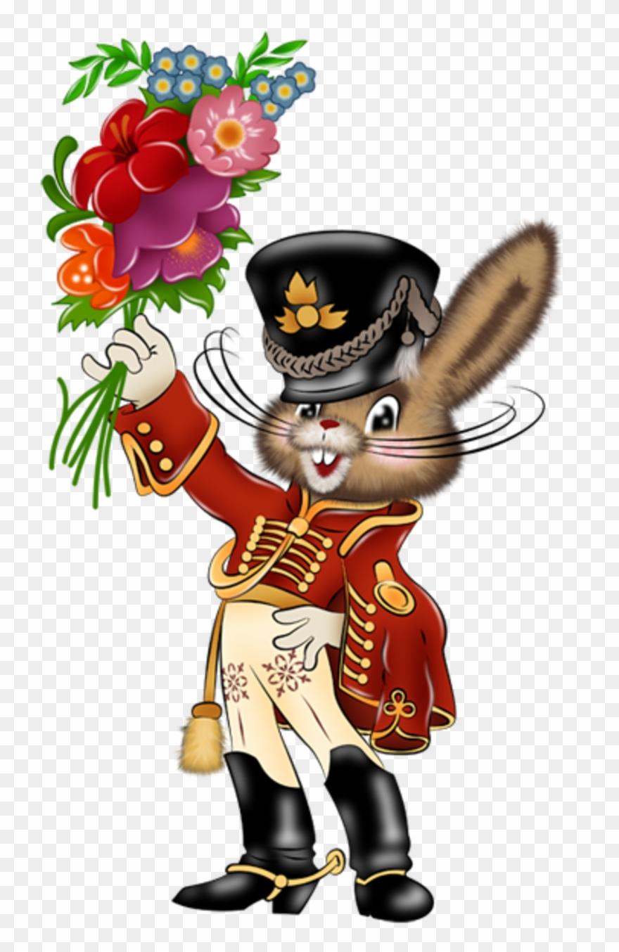 Открытка заяц-гусар