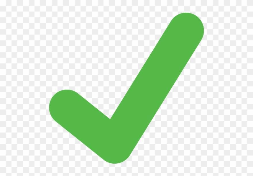 Check mark green. Tick clipart light png