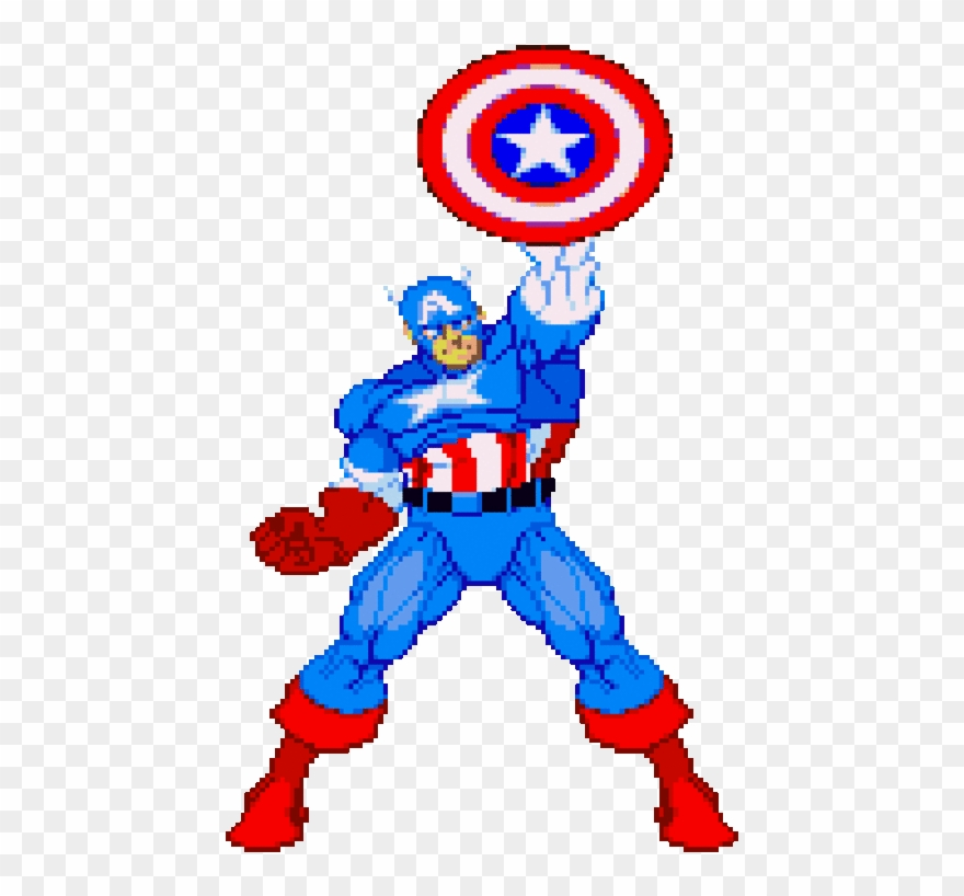 Captain America 6 - Captain America Cartoon Gif Clipart