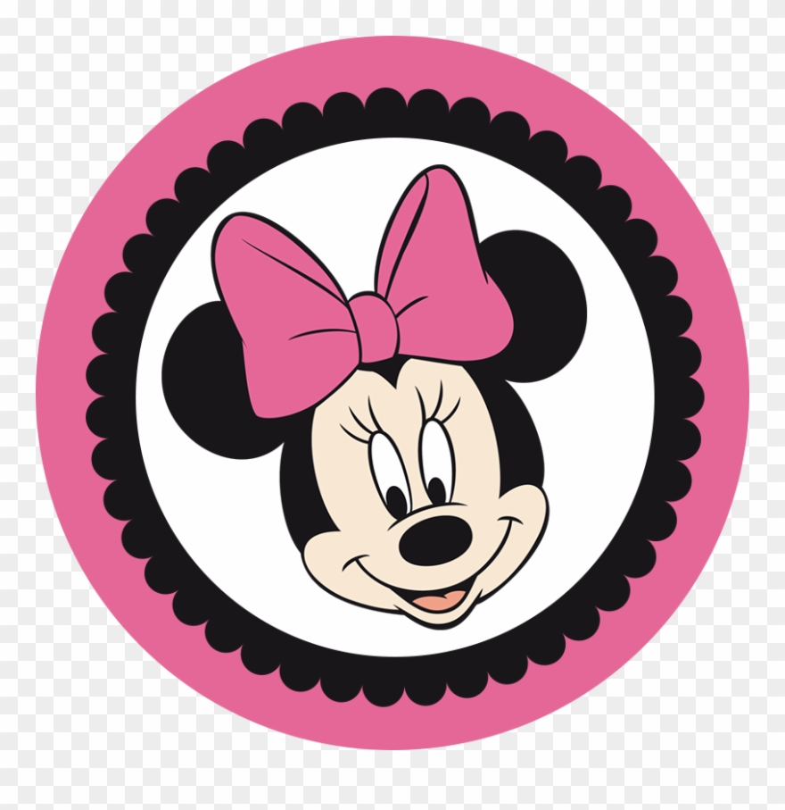 Minnie mouse head. In pink and black