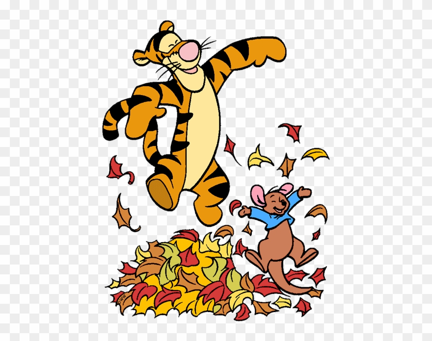 Roo Tigger Roo Jumping In Pile Of Leaves Jumping Disney Clipart Png Download 1260563 Pinclipart