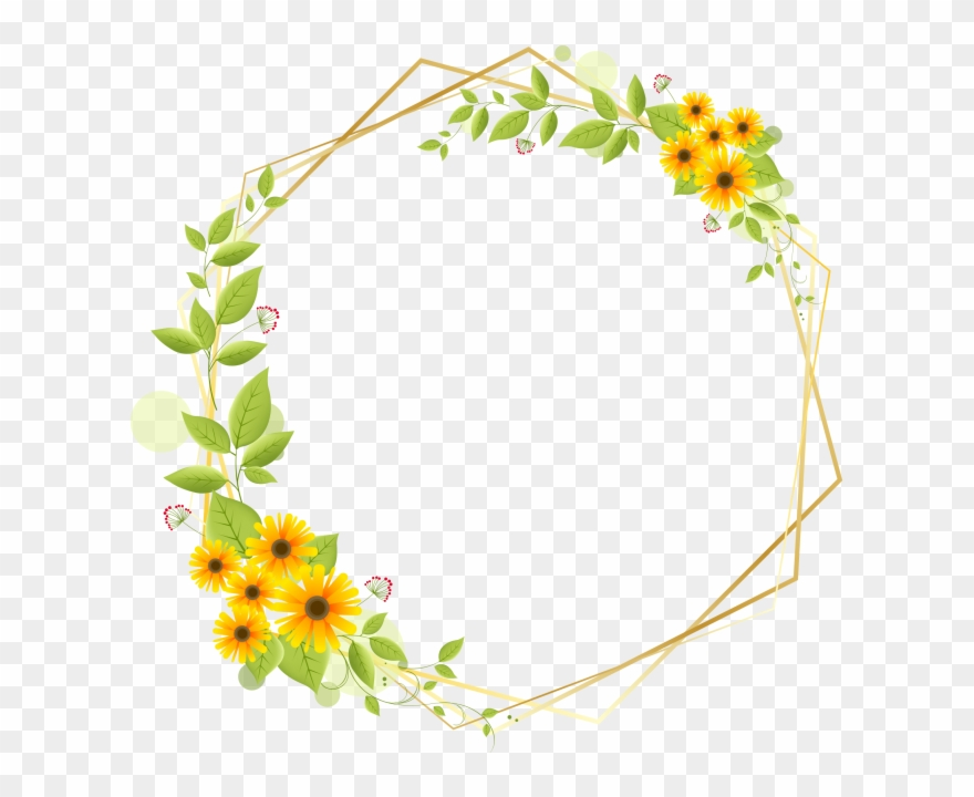 Flower Border Clip Art Free Download Png Download 1265973 Pinclipart