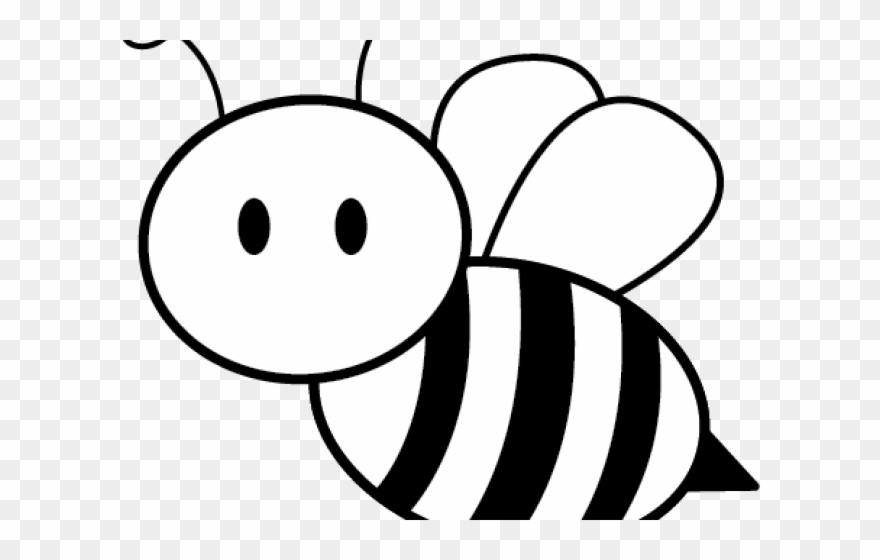 Outline Image Of Honey Bee Clipart (#1267103) - PinClipart