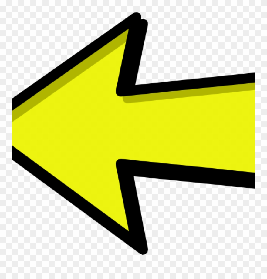Arrow left. Right clipart and yellow
