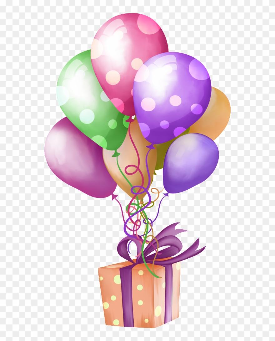 Verjaardag Birthday Balloons And Presents Clipart 1268931