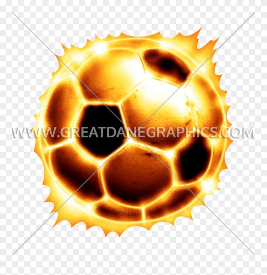 Fire soccer ball. Production png clipart