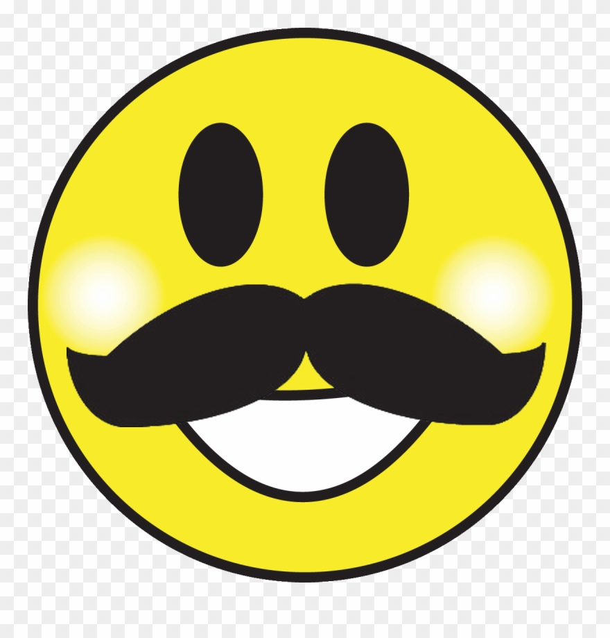 804f28563cde Smiley Face Moustache Clipart Smiley Emoticon Clip - Happy Face Emoji With  Mustache - Png Download