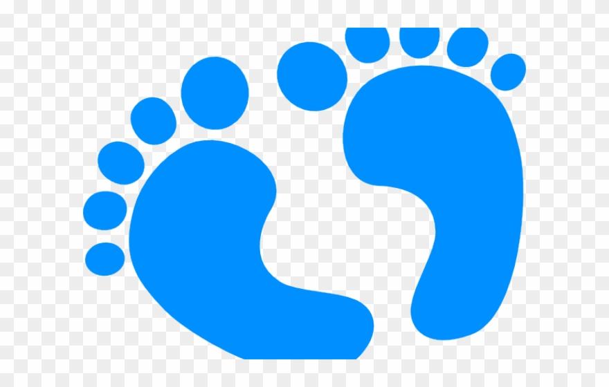 Baby blue. Boy clipart footprints icon