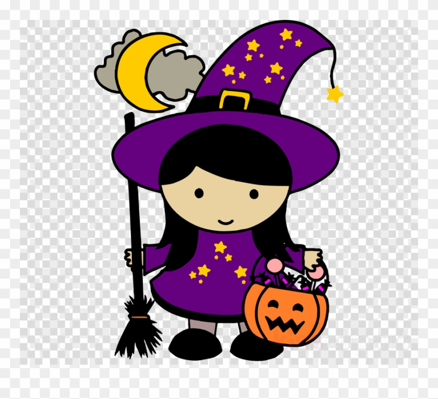 Halloween Witch Clipart Halloween Witches Witchcraft Cute Witch Clip Art Png Download 1281895 Pinclipart
