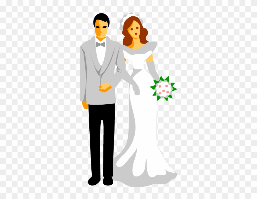 Image Freeuse Library Couple Vector Wedding Reception Wedding Couples Cartoon Clipart 1283066 Pinclipart