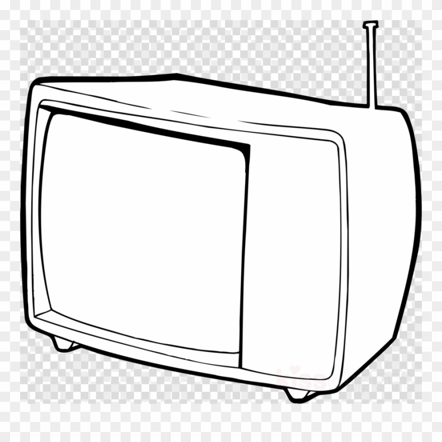 Tv outline. Clipart black and white