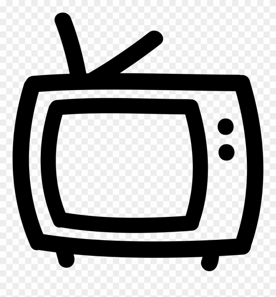 Tv outline. Png clipart pinclipart