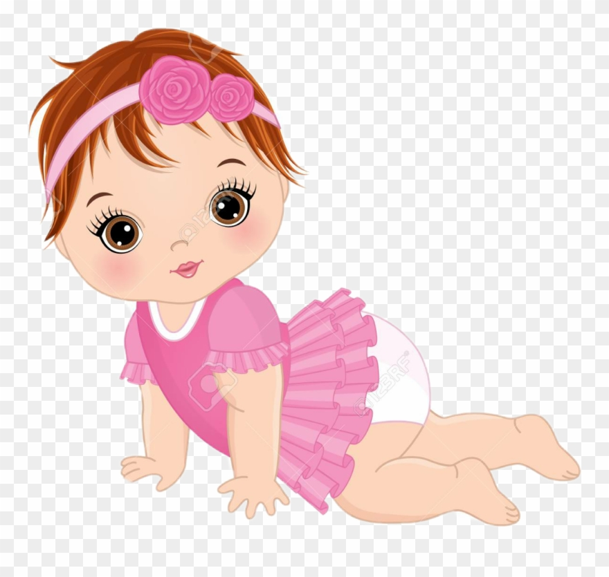Cute Baby Girl Vector Clipart 1284305 Pinclipart