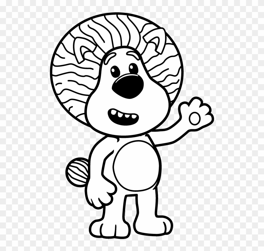 Picture Black And White Download Barney Drawing Colour - Raa Raa The Noisy  Lion Colouring Pages Clipart (#1288437) - PinClipart