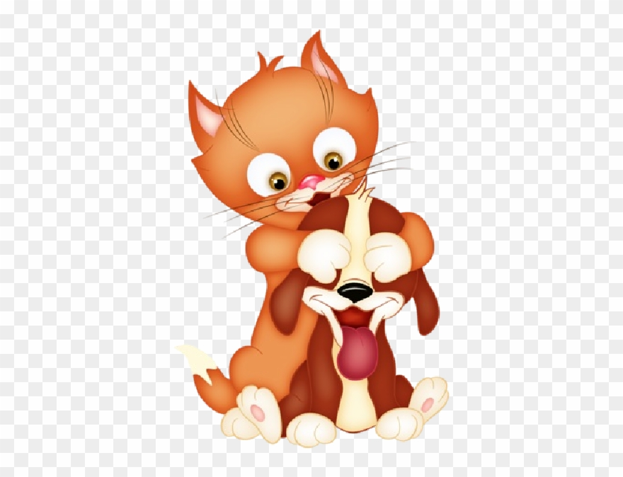 Cat And Dog Clipart Dogs And Cat Cartoon Png Download 1290138 Pinclipart