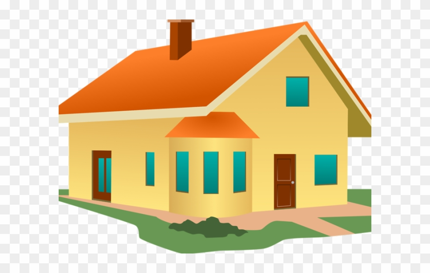 House mansion. Clipart without roof transparent