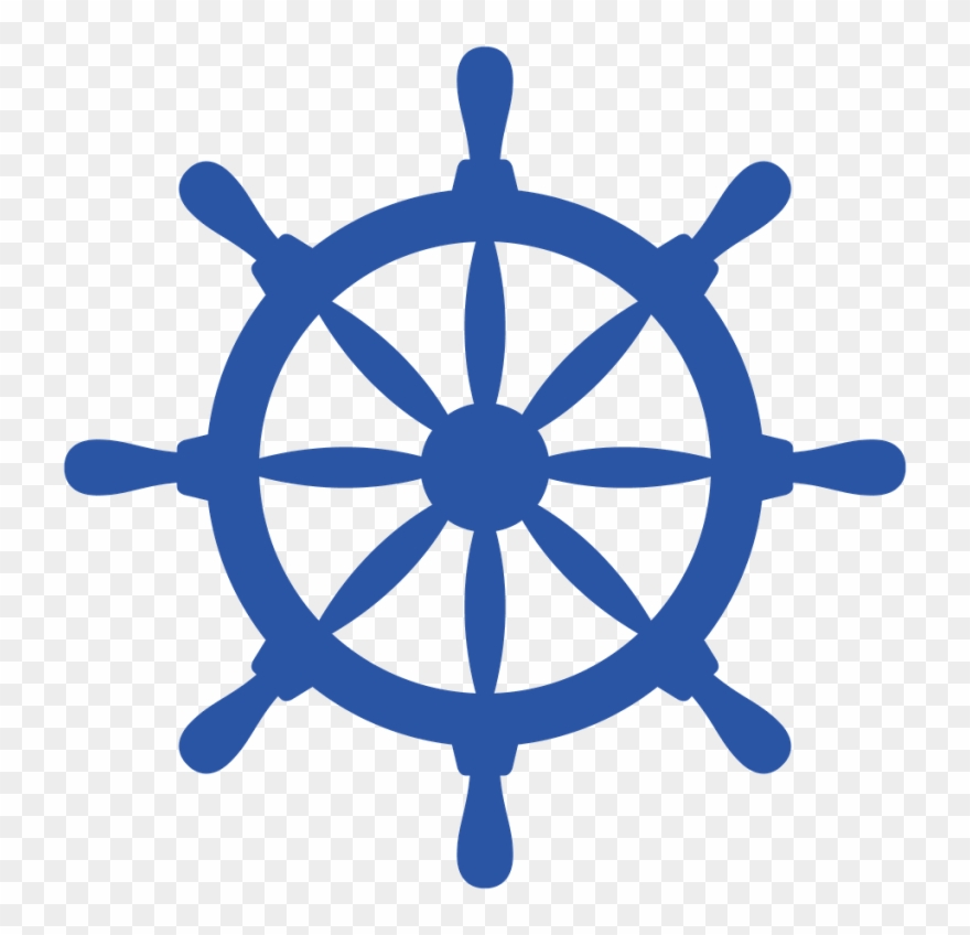 Boat Wheel Cliparts - Clip Art Ship Wheel - Png Download