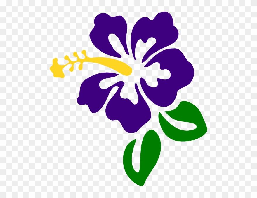 Purple Hibiscus Clip Art Png Download 1292666 Pinclipart