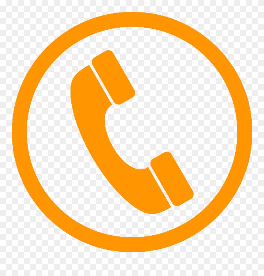 Phone yellow. Orange icon vector clipart