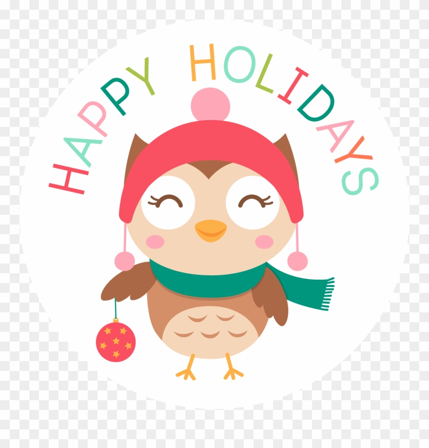 Christmas Holiday Clipart.Happy Holidays Christmas Owl Holiday Clipart 1294865