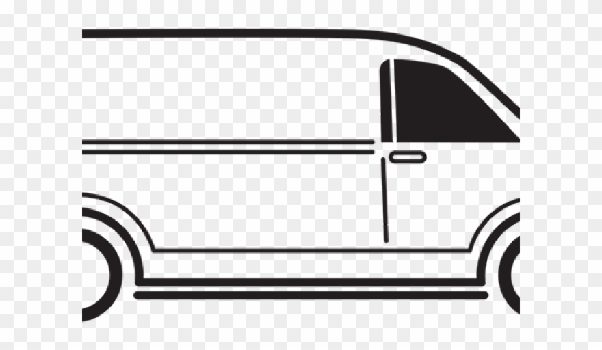Vans Clipart Black And White Black And White Clip Art Van Png
