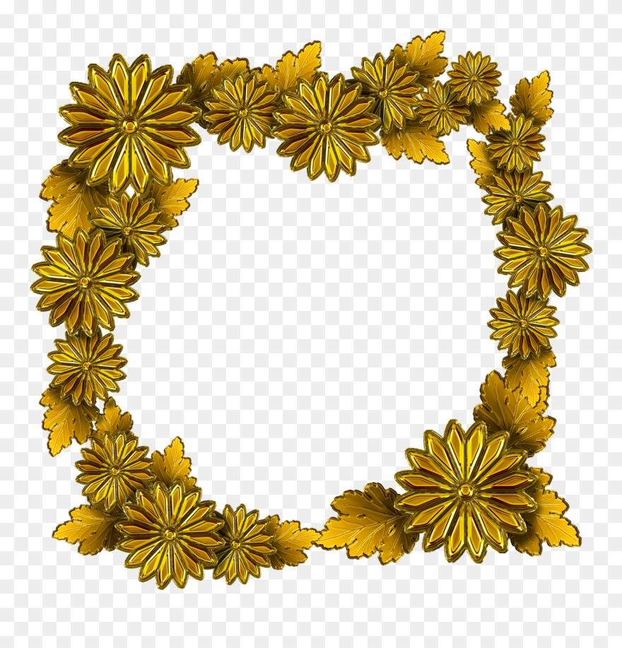 gold the frame chrysanthemum frame bunga emas png clipart 1298572 pinclipart frame bunga emas png clipart