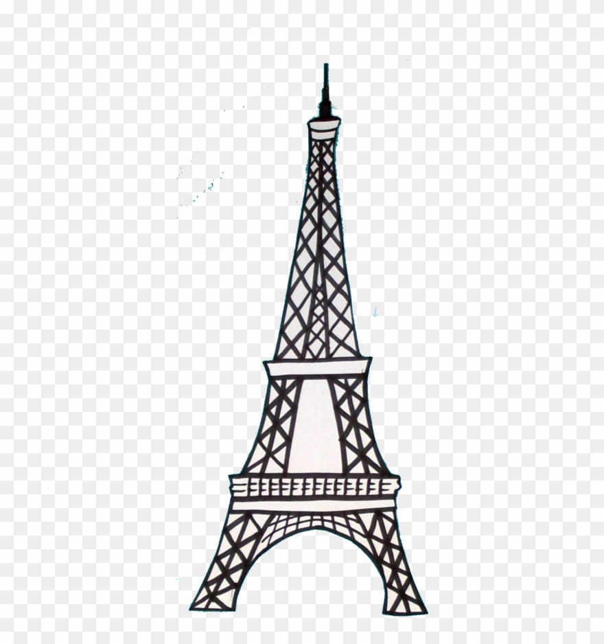 Eiffel tower french. Clipart basic drawing png