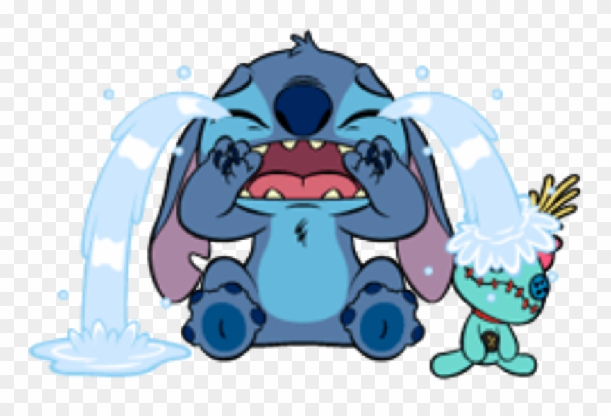Stitch Crying Liloandstich Lilo Stich Fanart Sad Cute Dibujos Para