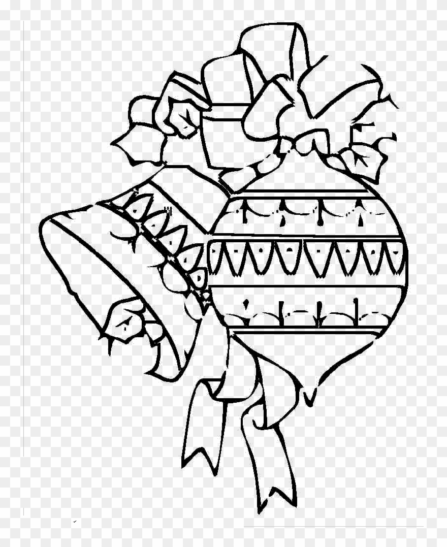 - Christmas Oranament And Bell Cool Coloring Pages - Drawing Clipart
