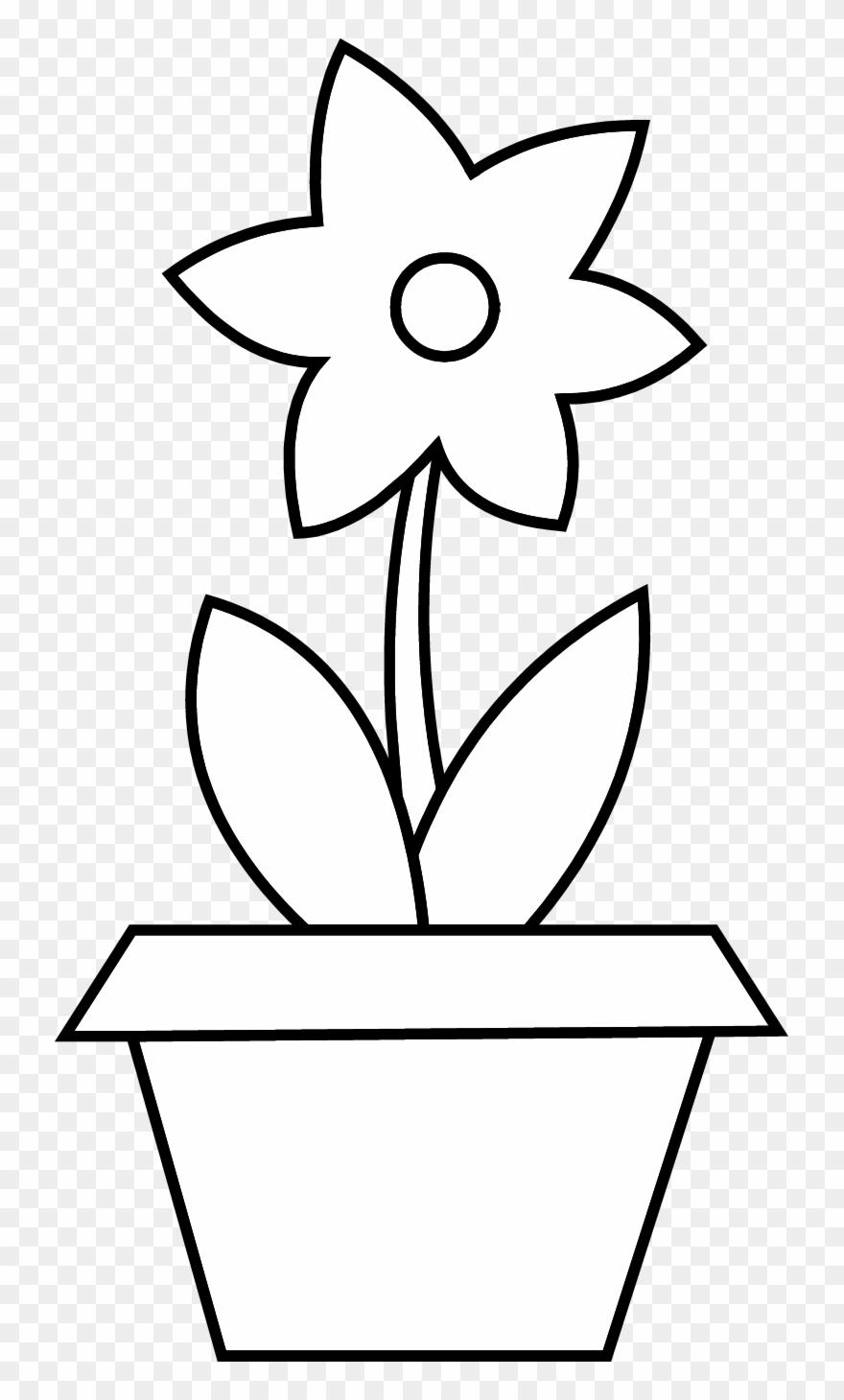 Flower Pot Clipart - Flower Pot Black And White - Png Download  sc 1 st  PinClipart. & Flower Pot Clipart - Flower Pot Black And White - Png Download ...