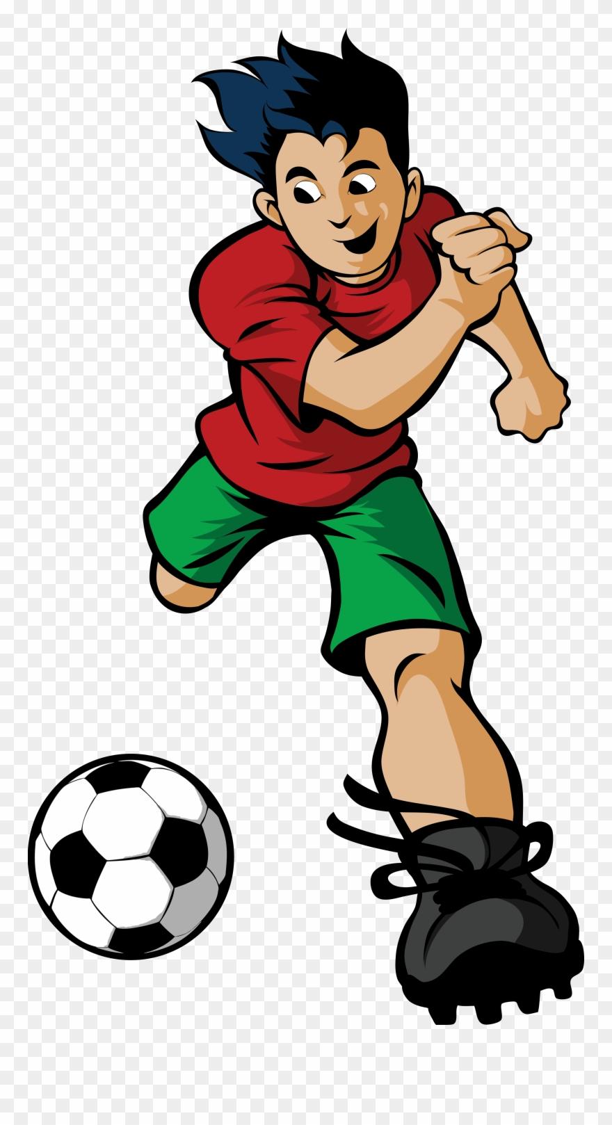 Soccer Cartoon Soccer Player Cartoon Png Clipart 1302407 Pinclipart