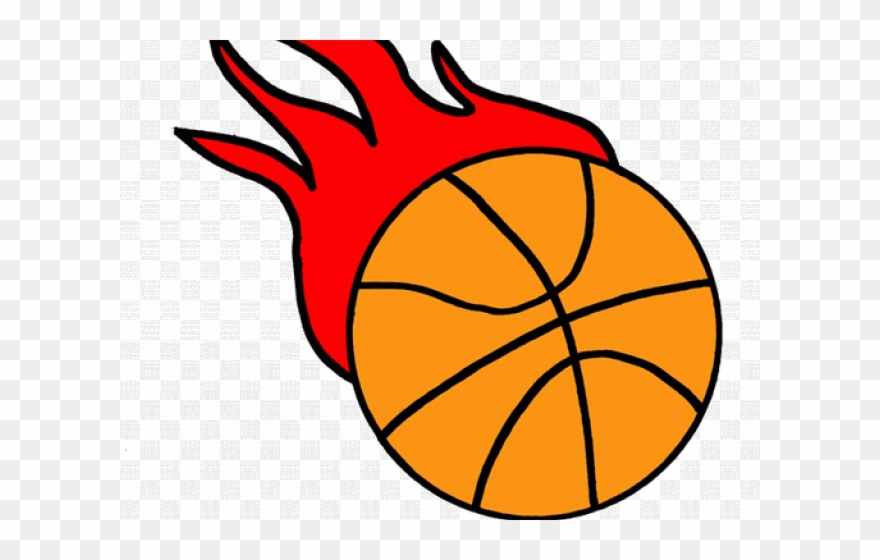 Basketball flaming. Clipart flame clip art