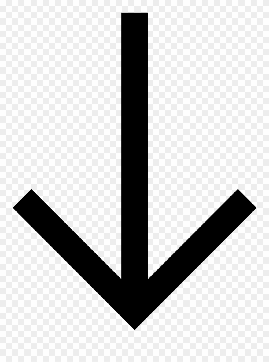 Arrow down. Clipart of arrows pointing