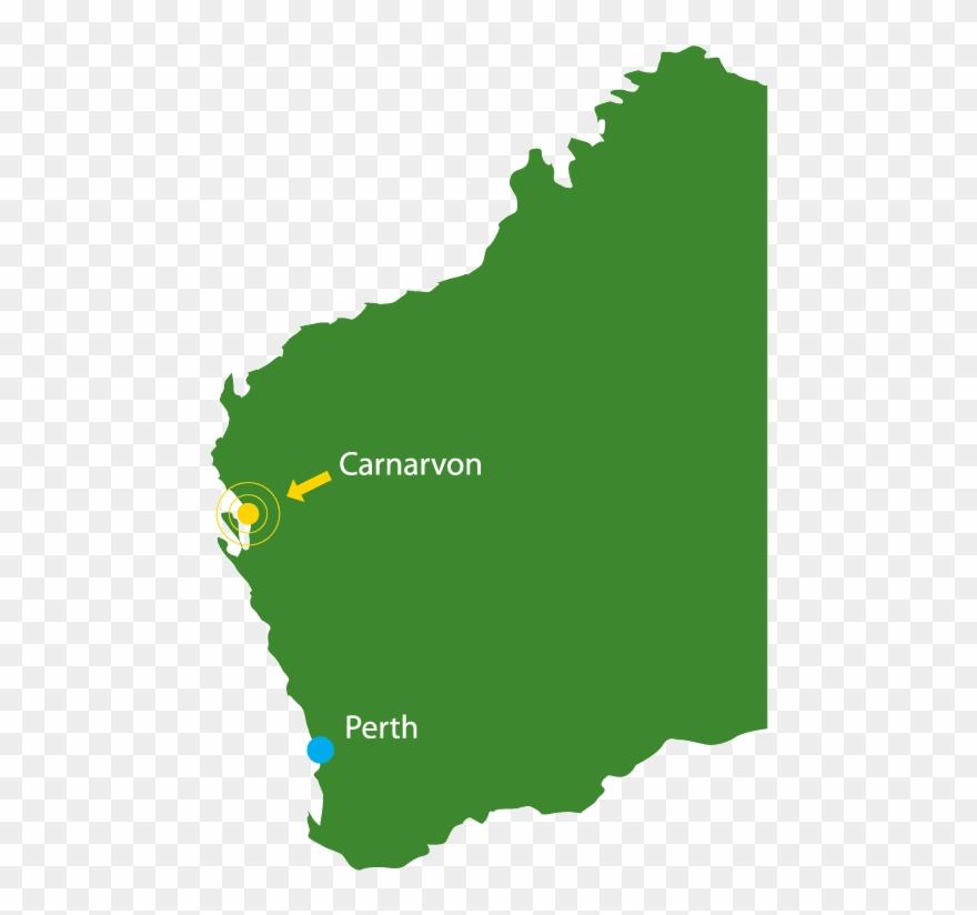 Map Of Carnarvon - Carnarvon On The Map Clipart (#1311197
