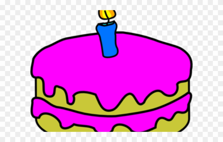 Birthday Cake Clip Art Birthday Cake 2 Candles Png Download