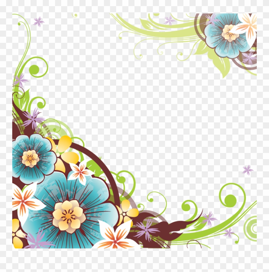 flower corner png clipart flowers vector border png transparent png 1313077 pinclipart flower corner png clipart flowers