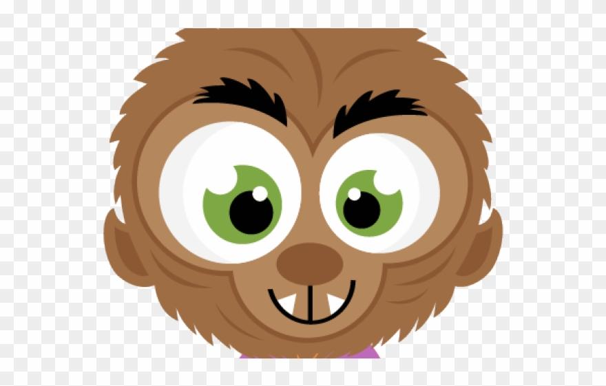 Werewolf. Clipart friendly head cartoon