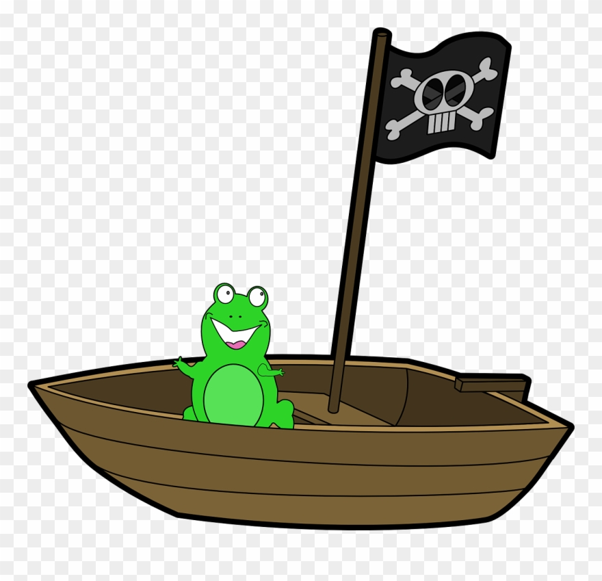 Frog On A Boat Clipart (#1321301) - PinClipart