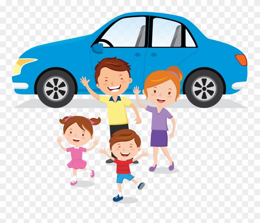 Family Car Clipart Png Transparent Png (#1328443) - PinClipartFamily Car Clipart