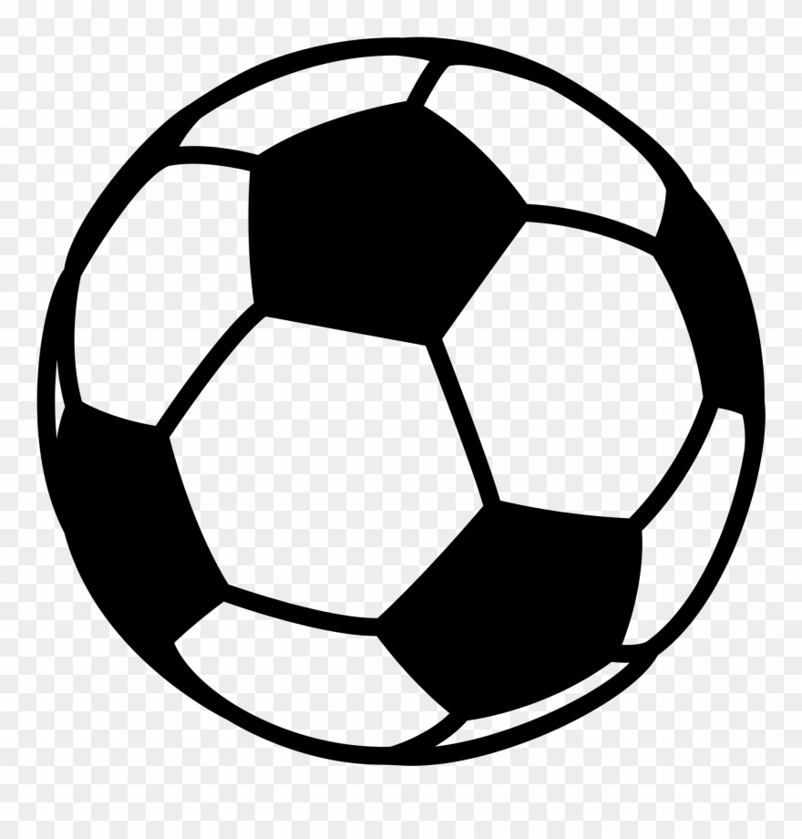 Black And White Football Clipart Soccer Ball Png Download 1331729 Pinclipart