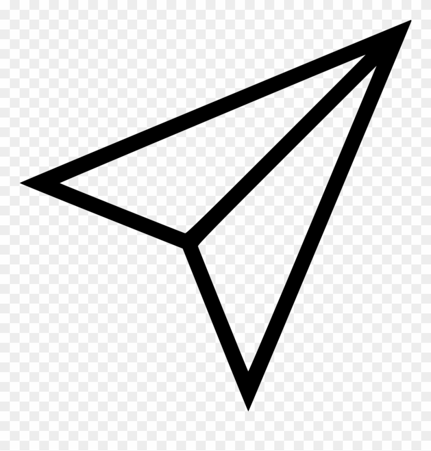 Black Shape Paper Plane Instagram Paper Airplane Icon Clipart